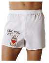 Eggnog Me Boxers Shorts White 2XL Tooloud