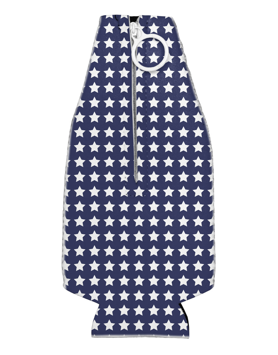 Americana Stars Pattern Collapsible Neoprene Bottle Insulator All Over Print
