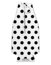 Black Polka Dots on White Collapsible Neoprene Bottle Insulator All Over Print by TooLoud