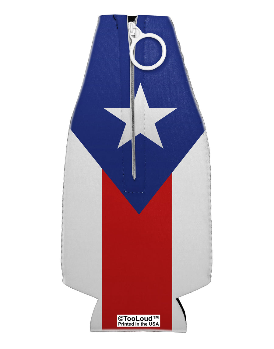 Puerto Rico Flag AOP Collapsible Neoprene Bottle Insulator All Over Print