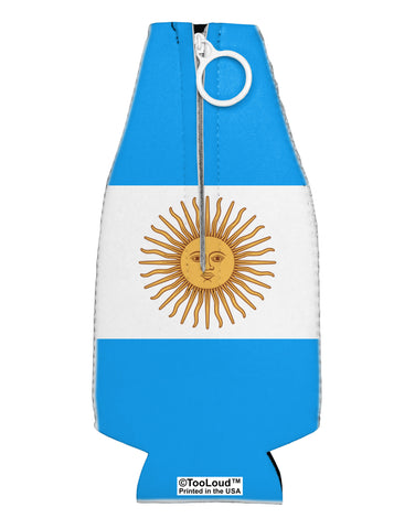 Argentina Flag AOP Collapsible Neoprene Bottle Insulator All Over Print