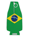 Brazil Flag AOP Collapsible Neoprene Bottle Insulator All Over Print