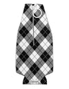 Black and White Argyle AOP Collapsible Neoprene Bottle Insulator All Over Print by TooLoud