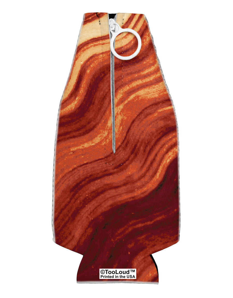 Bacon Bacon Bacon Collapsible Neoprene Bottle Insulator All Over Print by TooLoud
