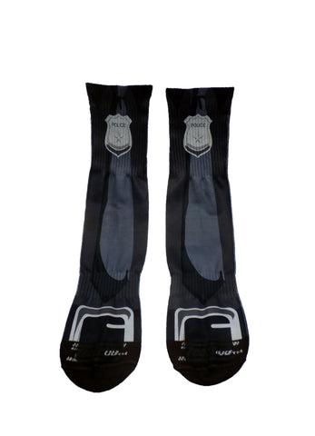 Police Adult Crew Socks All Over Print