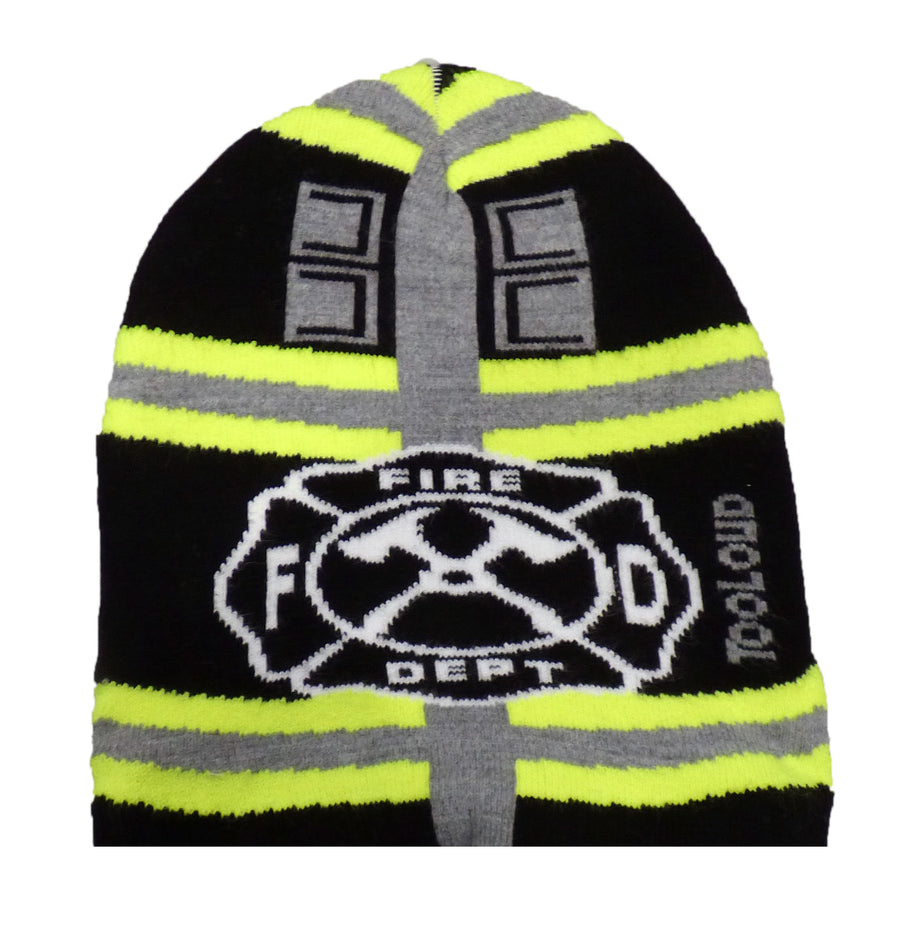 Firefighter Black Premium Knit Beanie Cap Hat