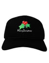 Holly Merry Christmas Text Adult Dark Baseball Cap Hat