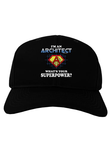 Architect - Superpower Adult Dark Baseball Cap Hat