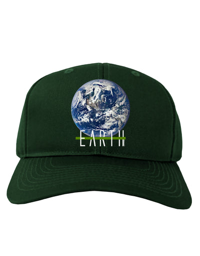 Planet Earth Text Adult Dark Baseball Cap Hat
