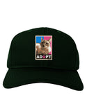 Adopt Cute Kitty Poster Adult Dark Baseball Cap Hat