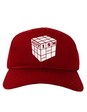Autism Awareness - Cube B & W Adult Dark Baseball Cap Hat