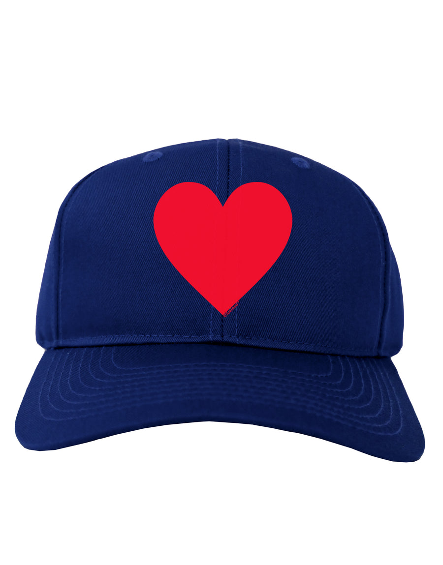 Big Red Heart Valentine's Day Adult Dark Baseball Cap Hat