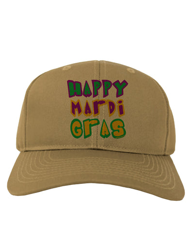 Happy Mardi Gras Text 2 Adult Baseball Cap Hat