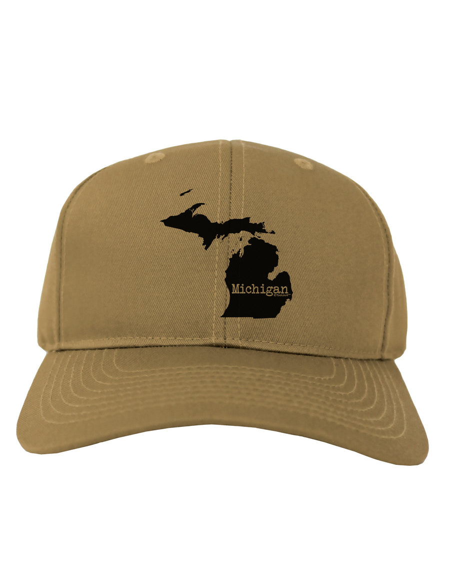 Michigan - United States Shape Adult Baseball Cap Hat