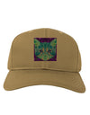Geometric Kitty Inverted Adult Baseball Cap Hat