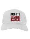 BACK OFF Keep 6 Feet Away Adult Baseball Cap Hat White Tooloud
