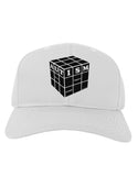 Autism Awareness - Cube B & W Adult Baseball Cap Hat