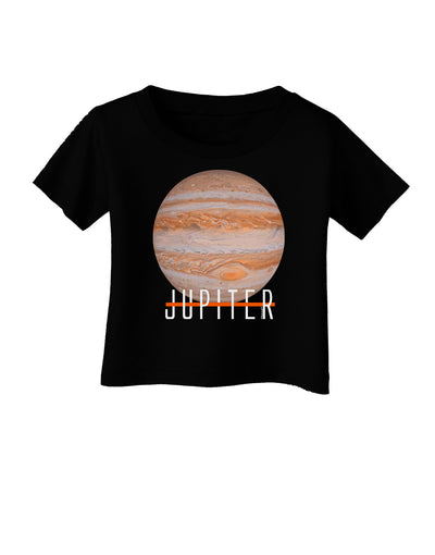 Planet Jupiter Earth Text Infant T-Shirt Dark