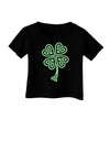 Celtic Knot 4 Leaf Clover St Patricks Infant T-Shirt Dark