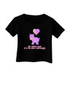 Cute First Birthday Hippo - Pink and Purple Infant T-Shirt Dark by TooLoud