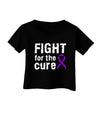 Fight for the Cure - Purple Ribbon Alzheimers Disease Infant T-Shirt Dark