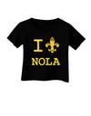 I Love NOLA Fleur de Lis Infant T-Shirt Dark