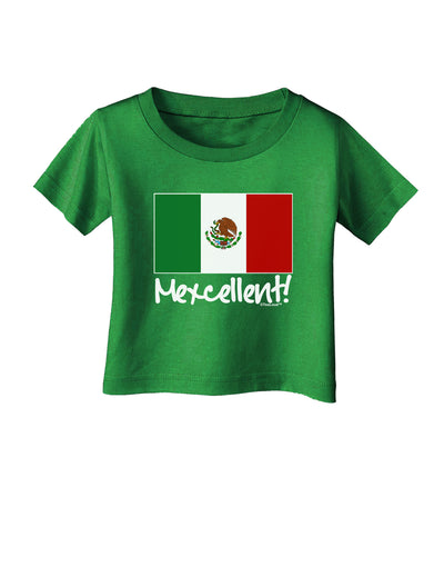 Mexcellent - Mexican Flag Infant T-Shirt Dark