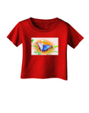 Blue Watercolor Butterfly Infant T-Shirt Dark