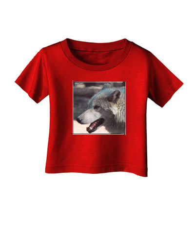 TooLoud White Wolf Face Infant T-Shirt Dark