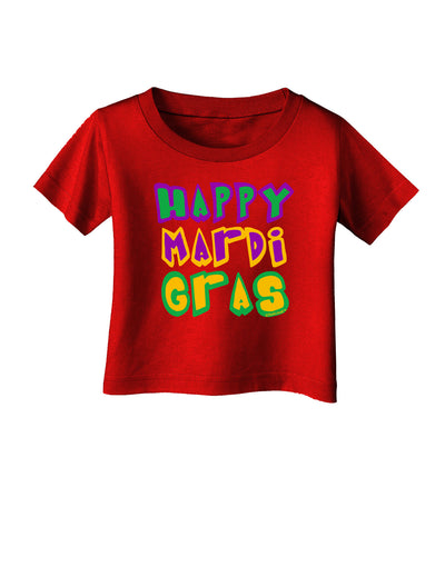Happy Mardi Gras Text 2 Infant T-Shirt Dark