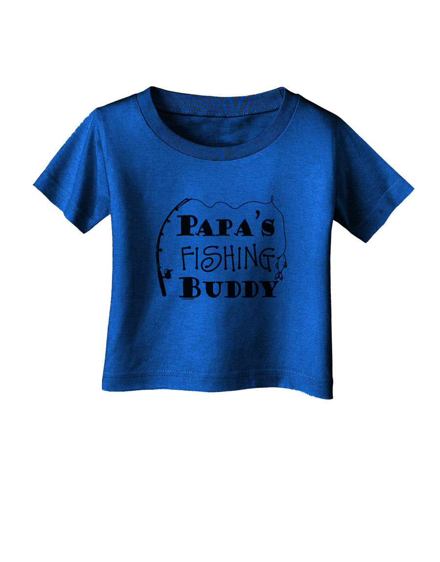 Papas Fishing Buddy Infant T-Shirt Dark Red - 18Months Tooloud