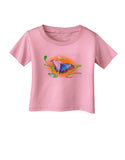 Blue Watercolor Butterfly Infant T-Shirt