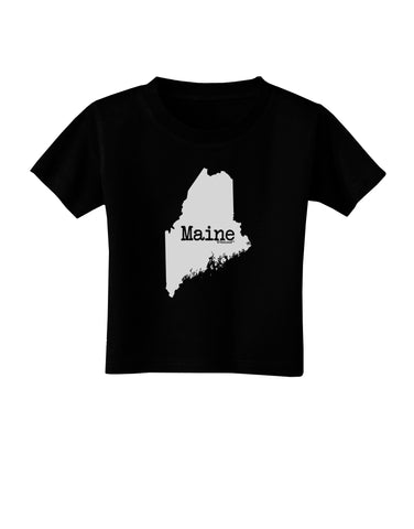 Maine - United States Shape Toddler T-Shirt Dark by TooLoud