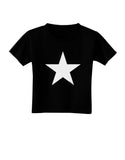 White Star Toddler T-Shirt Dark Black - 4T Tooloud