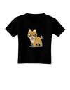 Kawaii Standing Puppy Toddler T-Shirt Dark