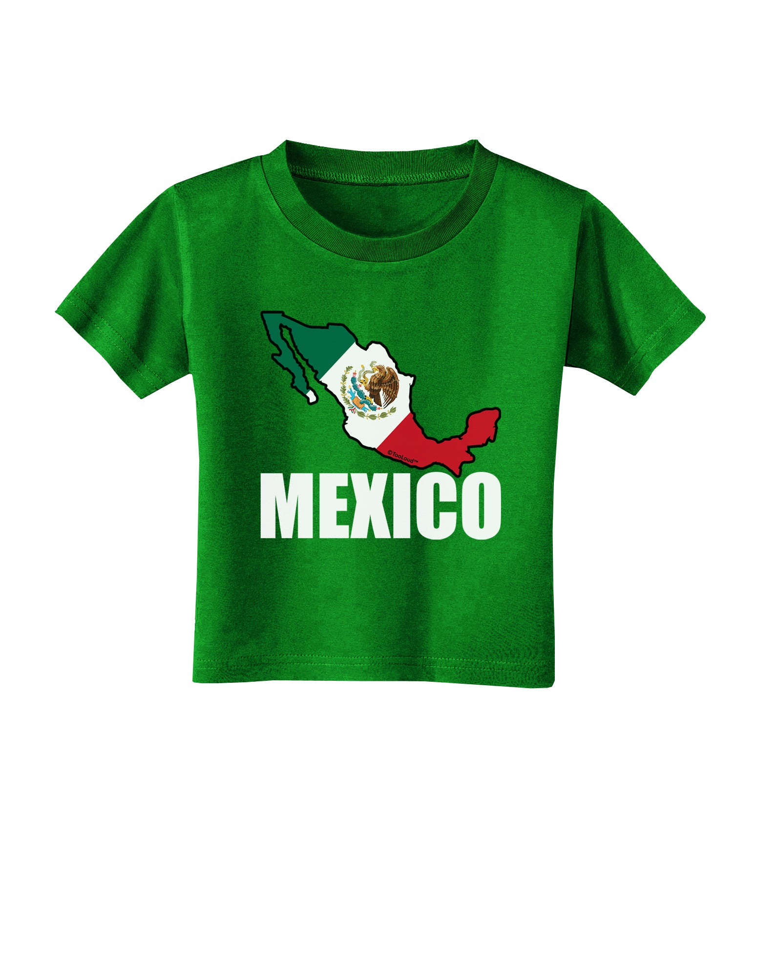 Mexico Outline - Mexican Flag - Mexico Text Toddler T ...