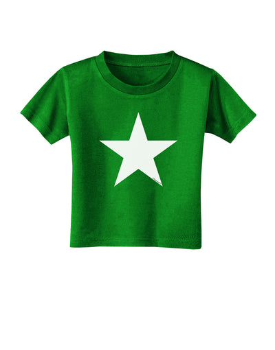 White Star Toddler T-Shirt Dark Clover Green - 4T Tooloud