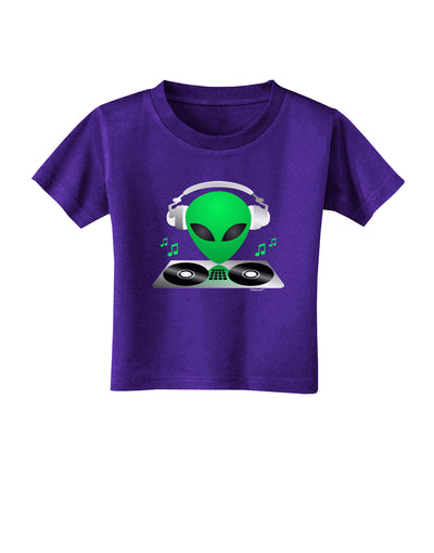 Alien DJ Toddler T-Shirt Dark
