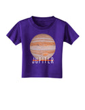 Planet Jupiter Earth Text Toddler T-Shirt Dark