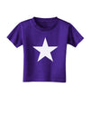 White Star Toddler T-Shirt Dark Purple - 4T Tooloud