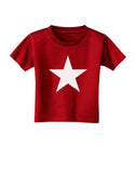 White Star Toddler T-Shirt Dark Red - 4T Tooloud