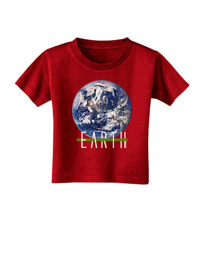 Planet Earth Text Toddler T-Shirt Dark
