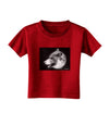 TooLoud White Wolf Moon Toddler T-Shirt Dark
