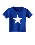 White Star Toddler T-Shirt Dark Royal Blue - 4T Tooloud