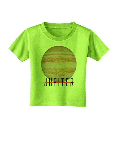 Planet Jupiter Earth Text Toddler T-Shirt