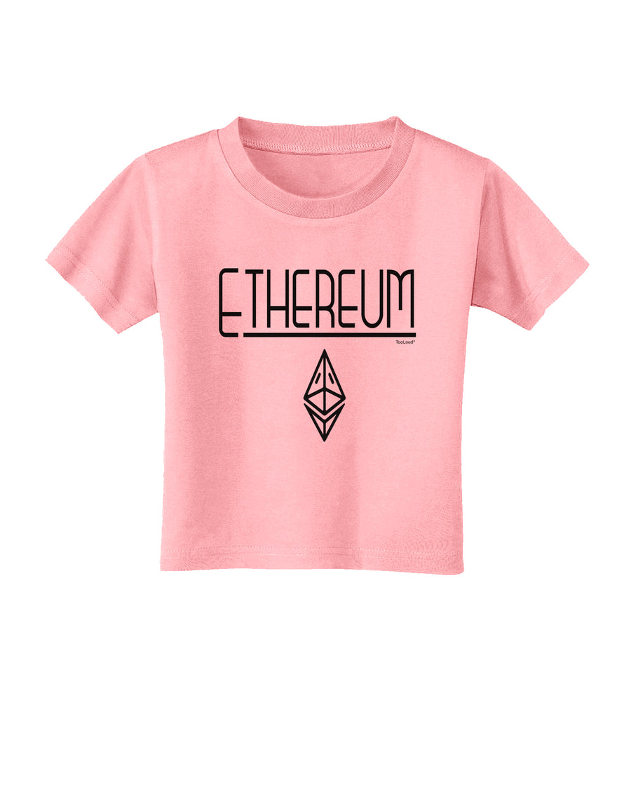 Ethereum with logo Toddler T-Shirt White 4T Tooloud