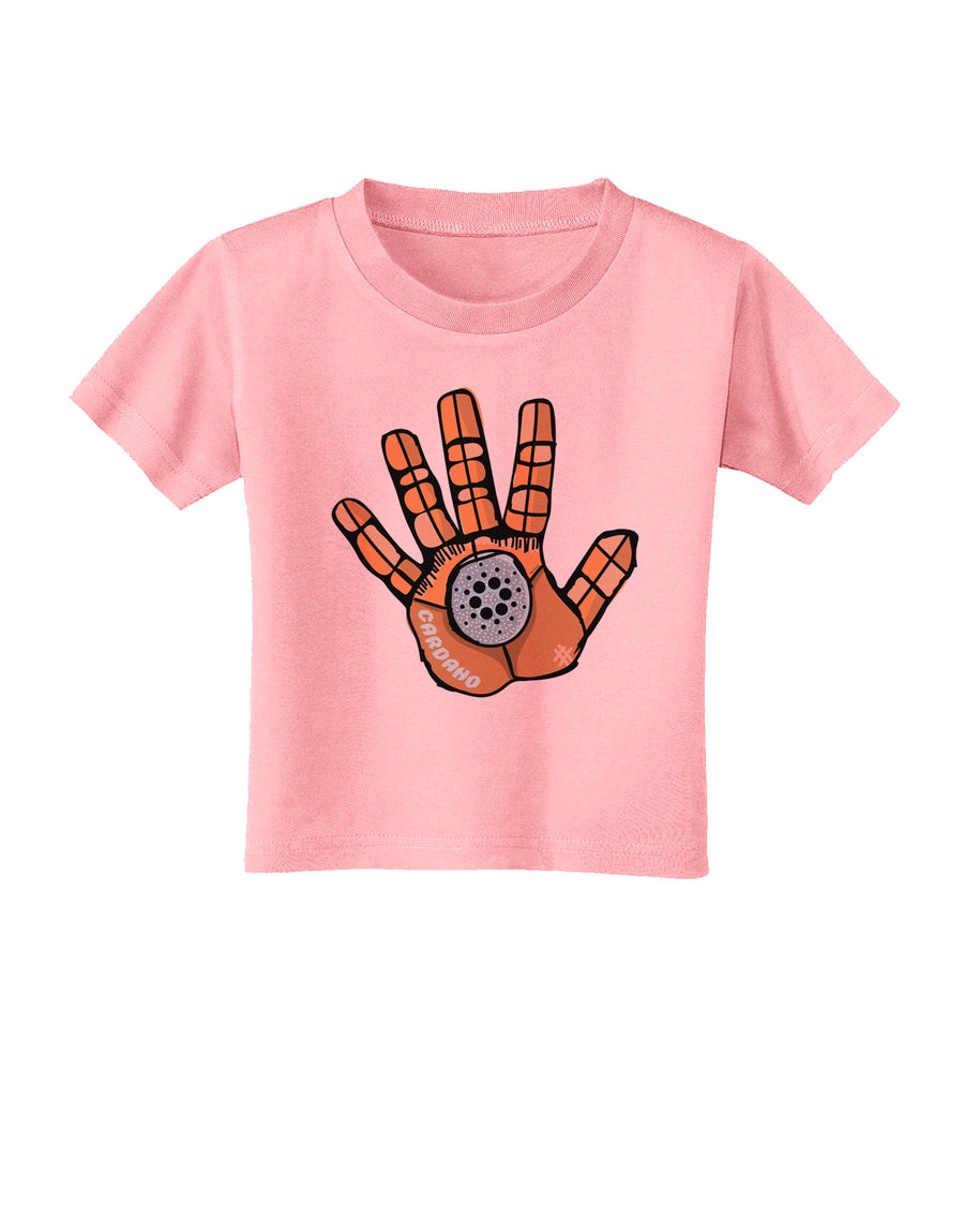 Cardano Hero Hand Toddler T-Shirt White 4T Tooloud