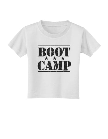 Bootcamp Large distressed Text Toddler T-Shirt by TooLoud