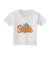 Smile Toddler T-Shirt White 4T Tooloud