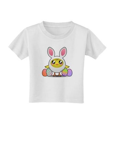 Chick In Bunny Costume Toddler T-Shirt